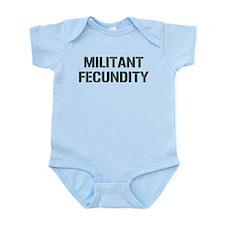 MILITANT FECUNDITY Infant Bodysuit