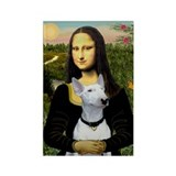 Mona Lisa / Bull Terrier Rectangle Magnet