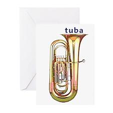 Tuba Greeting Cards (6)