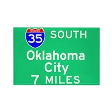 Oklahoma City OK, Interstate 35 South Rectangle Ma