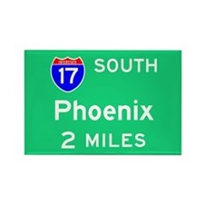 Phoenix AZ, Interstate 17 South Rectangle Magnet