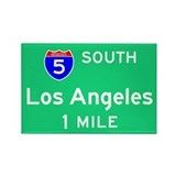Los Angeles CA, Interstate 5 South Rectangle Magne