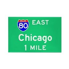 Chicago IL, Interstate 80 East Rectangle Magnet