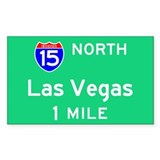Las Vegas NV, Interstate 15 North Decal