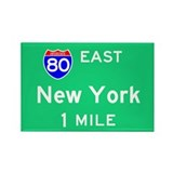 New York NY, Interstate 80 East Rectangle Magnet