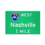 Nashville TN, Interstate 40 West Rectangle Magnet