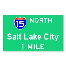 Salt Lake City UT, Interstate 15 North Decal