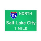 Salt Lake City UT, Interstate 15 North Rectangle M