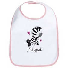 Zebra Zoo Animal Girls Bib