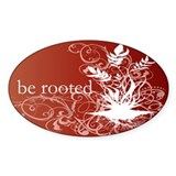 Red Chakra Oval Decal