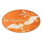 Orange Chakra Oval Decal