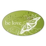 Green Chakra Oval Decal