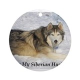 Siberian Husky Products Ornament (Round)