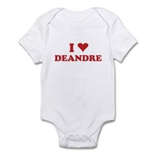 I LOVE DEANDRE Infant Bodysuit