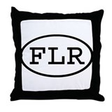 FLR Oval Throw Pillow
