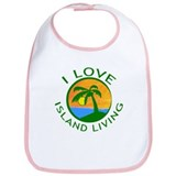 I Love Island Living Bib