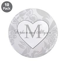 """Romantic Monogram 3.5"""" Button (10 pack)"""