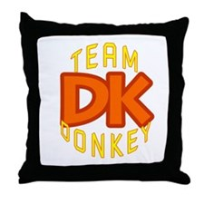 Team Donkey Kong Throw Pillow