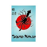 Squid Ninja Rectangle Magnet