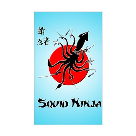 Squid Ninja Sticker (Rectangle)