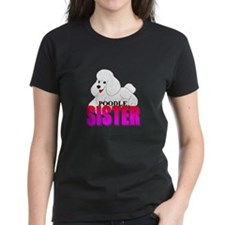 White Poodle Sister Tee