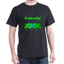 Personalized Irish Name 4 Leaf Clovers for Ted T-S