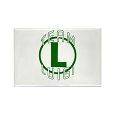 Team Luigi Rectangle Magnet (10 pack)