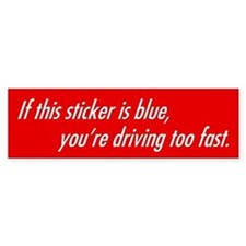 Blue Shifted Bumper Car Sticker