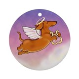Dachshund Angel Ornament (Round)
