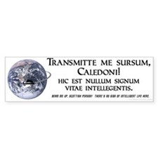Latin 'Beam me up' Bumper Bumper Sticker