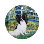 Bridge & Papillon Ornament (Round)