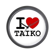 I Love Taiko - Wall Clock