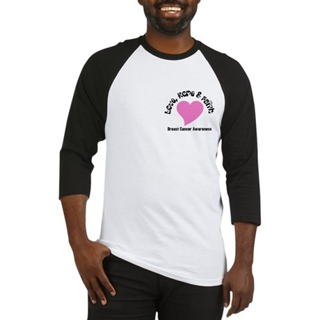 Pink Heart-Breast Cancer Baseball Jersey
