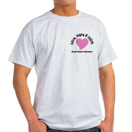 Pink Heart-Breast Cancer Light T-Shirt