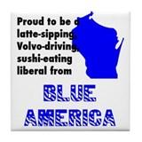 Blue America - Wisconsin Tile Coaster