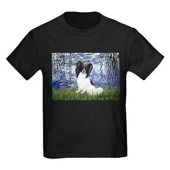 Lilies (#6) & Papillon Kids Dark T-Shirt
