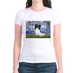 Lilies (#6) & Papillon Jr. Ringer T-Shirt