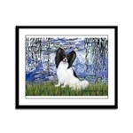 Lilies (#6) & Papillon Framed Panel Print