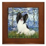 Lilies (#6) &amp; Papillon Framed Tile