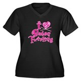 I Heart Baton Twriling Women's Plus Size V-Neck Da