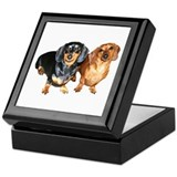 Double Dachshund Dogs Keepsake Box