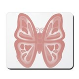 large pink butterfly Mousepad