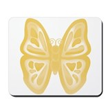 large yellow butterfly Mousepad