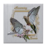 Mourning Doves Tile Coaster
