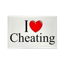 """I Love (Heart) Cheating"" Rectangle Magnet"