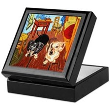 Double Dachshunds Van Gogh Keepsake Box
