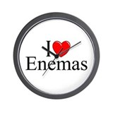 """I Love (Heart) Enemas"" Wall Clock"