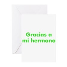Gracias a mi hermana Greeting Cards (Pk of 10)