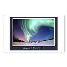 Northern Lights Rectangle Bumper Stickers