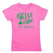 Kiss Me I'm Irish Girl's Tee